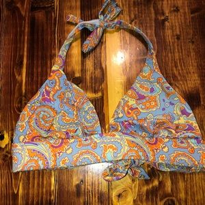 Victoria's Secret Paisley Halter Bikini Top Small